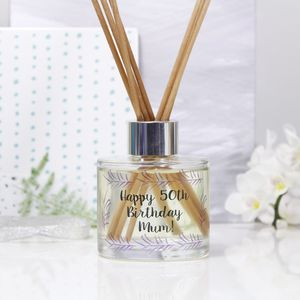 Personalised Birthday Reed Diffuser Gift Set