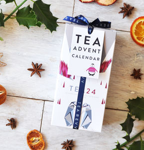 Tea Advent Calendar Selection Gift 24 Seasonal Blends - food and drink advent calendars