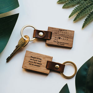 Personalised 'The Day You Became My…' Key Ring - gifts for fathers