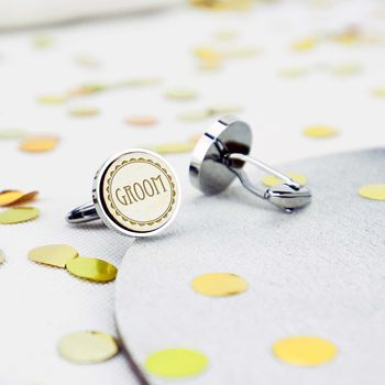 Wedding Day Groomsmen Cufflinks