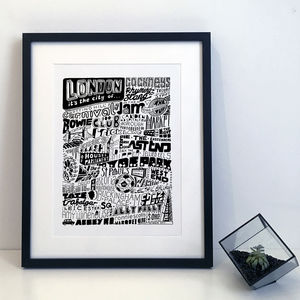 London City Typography Poster Print