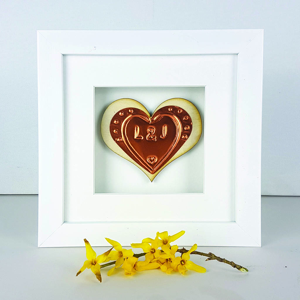 personalised embossed birch wooden heart frame by afewhometruths ...