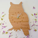 Personalised Woodland Owl Clock
