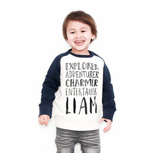 Personalised Alter Ego Organic Raglan Sweatshirt