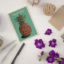 Happy Birthday Pineapple Wooden Postcard By Timbergram