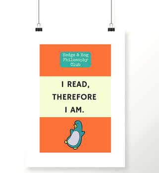 Reading A4 Art Print For Bookworms