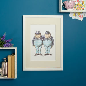 Tweedledum And Tweedledee Alice In Wonderland Print - whatsnew