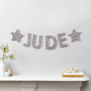 Personalised Glitter Name Banner - home accessories