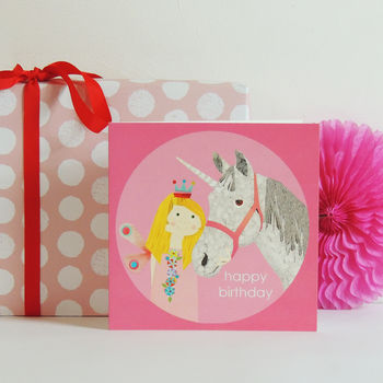 Fairy Unicorn Happy Birthday Card