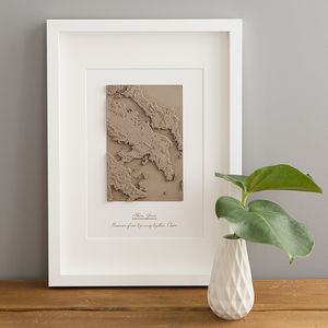 Personalised 3D Terrain Map Of Your Favourite Place - best valentine's gifts for her