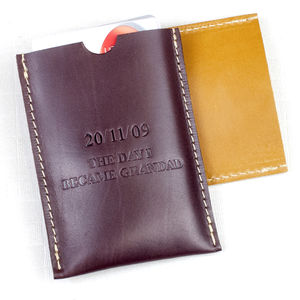 Personalised Grandad Leather Credit Card Holder - wallets