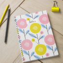 Scandi Floral Spiral Bound Notebook