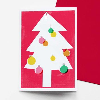 Set Of Eight Christmas Tree Cards