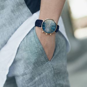 Harris Tweed Blue Chronograph Watch - men's accessories