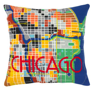 Chicago City Map Tapestry Kit