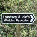 Wedding Reception Sign Black