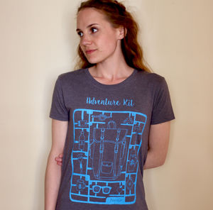 Recycled Cotton Womens 'Adventure Kit' T Shirt - tops & t-shirts