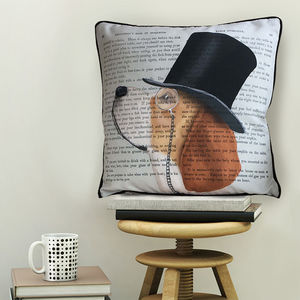 Beagle Cushion, Formal Dog Collection - living room