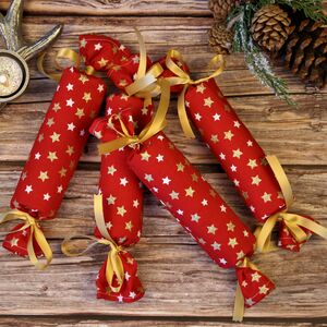 Reusable Red Star Christmas Crackers
