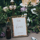 Modern Calligraphy Wedding Table Name Or Number