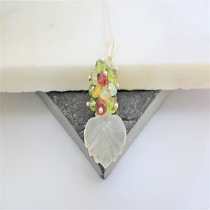 Moonstone Necklace With Ethiopian Wello Opal
