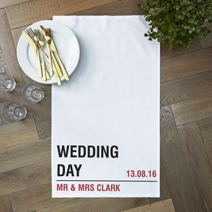 Personalised Wedding Street Tea Towel