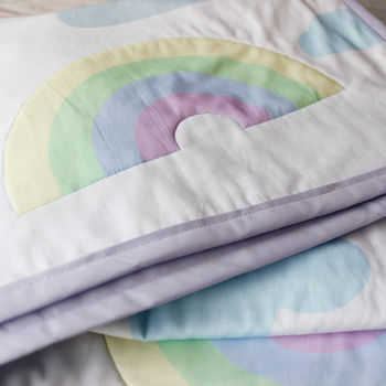 Personalised Baby Gift Clouds And Rainbows Blanket