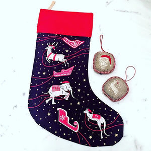 Animal Print Christmas Stocking