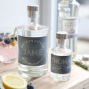Personalised Bottle Of Gin, Vodka Or Whisky