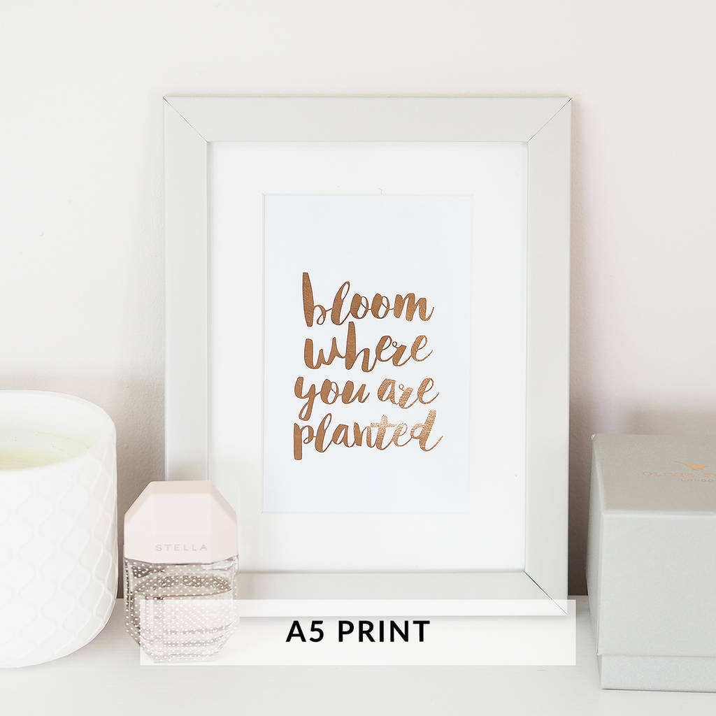 Personalised custom wall art foil print