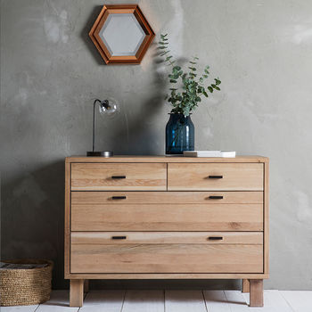 Kielder Solid Oak Chest Of Drawers By Frank Hudson