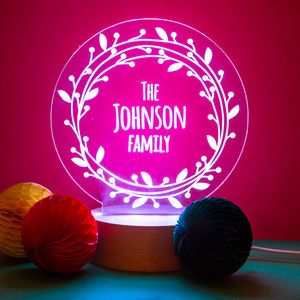 Personalised Family Decorative Side Lamp