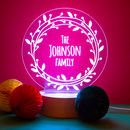 Personalised Christmas Light For Family