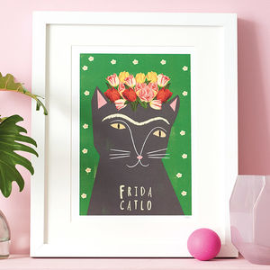 'Frida Catlo' Cat Print