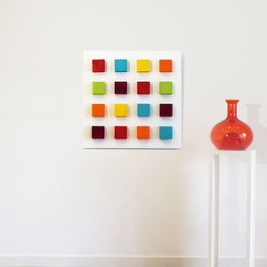 Canvas art pictures and prints notonthehighstreet square polka abstract 3d wood block art canvas prints art gumiabroncs Images