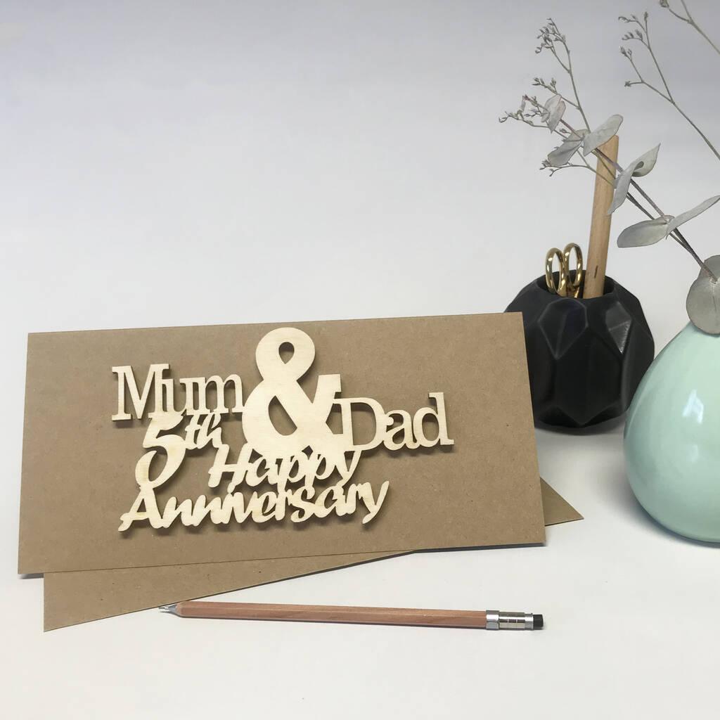 personalised mum and dad anniversary cardhickory