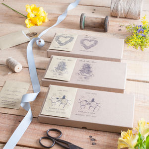 Personalised Seed Wedding Favours