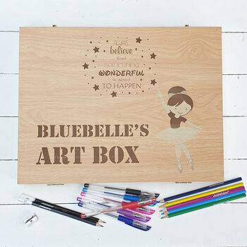 Personalised Ballerina Child's Art Box