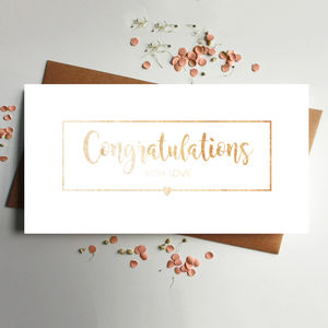 Congratulations Rose Gold Money Wallet