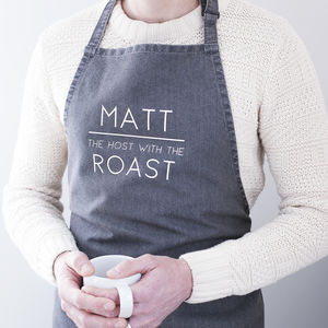 Personalised 'Host With The Roast' Slogan Apron - baking