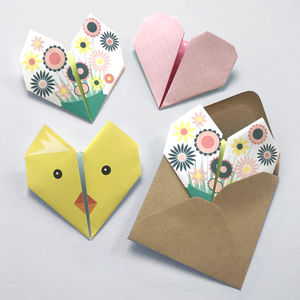 Origami Notepaper Set : Spring - party invitations