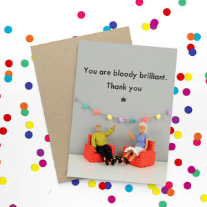 Bloody Brilliant Funny Card