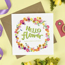 Hello Flower Birthday Card