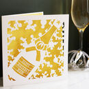 Champagne Birthday Card