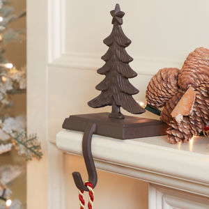 Personalised Cast Iron Christmas Tree Stocking Holder