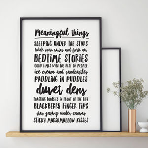 Meaningful Things Personalised Print - pictures & prints for children