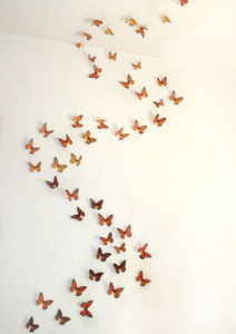 3D Monarch Butterfly Display - nursery pictures & prints
