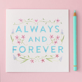 Always And Forever Anniversary Card