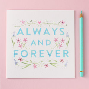 Always And Forever Anniversary Card - anniversary cards