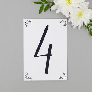 Modest Love Wedding Table Numbers